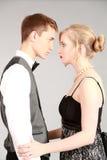 Mooi paar in formalwear royalty-vrije stock fotografie