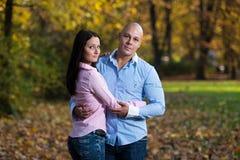 Mooi Paar in het Park stock afbeelding
