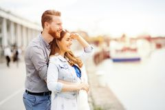 Mooi paar in openlucht royalty-vrije stock foto's