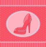 Mooi paar schoenen met hoge hiel vector illustratie