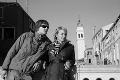Mooi paar in Venetië Stock Foto