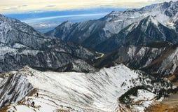 Mooi panorama van bergen Royalty-vrije Stock Foto's