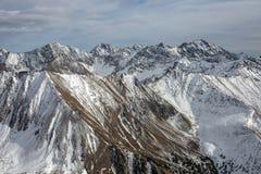 Mooi panorama van bergen Stock Afbeeldingen