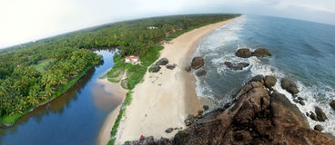 Mooi panorama van een strand Stock Fotografie