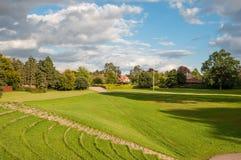 Mooi park in Roskilde Denemarken royalty-vrije stock foto's