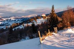 Mooi platteland in Karpatische bergen Royalty-vrije Stock Fotografie