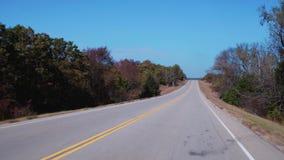 Mooi platteland in Oklahoma stock footage