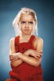 Mooi portret van een ontevreden meisje royalty-vrije stock fotografie