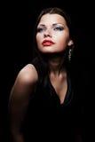Mooi portret van elegante vrouw royalty-vrije stock afbeelding