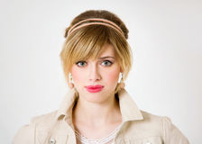 Mooi portret van sensuele Europese jonge vrouw Stock Afbeeldingen