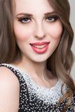 Mooi portret van sensuele Europese jonge vrouw Royalty-vrije Stock Afbeeldingen