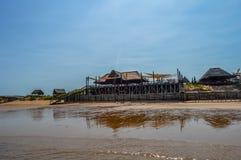 Mooi Portugees Eilandstrand met turkoois water, Mozambiq stock afbeeldingen