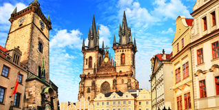 Mooi Praag, Tsjechische Republiek stock foto's