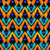 Mooi psychedelisch abstract geometrisch achtergrond naadloos vectorpatroon grunge effect Stock Fotografie