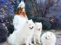 Mooi redhairmeisje zoals prinses Royalty-vrije Stock Foto's