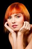 Mooi redhead gezicht royalty-vrije stock fotografie