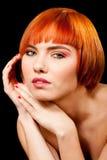 Mooi redhead gezicht stock afbeelding
