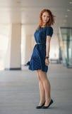 Mooi redhead meisje royalty-vrije stock foto's