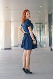 Mooi redhead meisje stock fotografie
