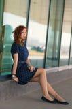 Mooi redhead meisje stock foto