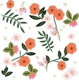 Mooi retro bloemenpatroon Royalty-vrije Stock Foto's