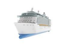 Mooi reusachtig die cruiseschip op witte achtergrond wordt geïsoleerd royalty-vrije illustratie