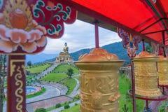 Mooi reusachtig standbeeld van Lord Buddha, in Rabangla, Sikkim, India Royalty-vrije Stock Afbeeldingen