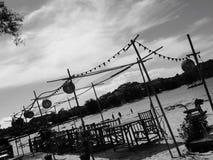 Mooi romantisch diner op de strandvakantie Royalty-vrije Stock Afbeeldingen