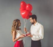 Mooi romantisch paar Stock Fotografie