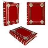 Mooi rood Boek stock foto's