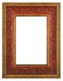 Mooi rood gouden frame Stock Fotografie