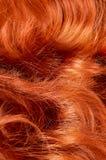 Mooi rood haar als achtergrond Royalty-vrije Stock Afbeelding