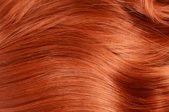 Mooi rood haar als achtergrond Stock Foto