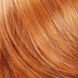 Mooi rood haar als achtergrond Royalty-vrije Stock Afbeeldingen