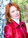Mooi rood meisje Royalty-vrije Stock Foto's
