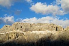 Mooi rotsachtig de piekenlandschap van dolomietalpen Royalty-vrije Stock Fotografie