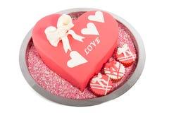 Mooi roze eetbaar valentijnskaarthart Stock Afbeeldingen