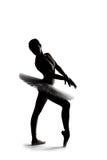 Mooi schaduwsilhouet van ballerina 2 Stock Fotografie