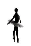 Mooi schaduwsilhouet van ballerina 3 Royalty-vrije Stock Afbeelding