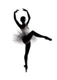 Mooi schaduwsilhouet van ballerina 5 Royalty-vrije Stock Afbeelding