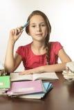 Mooi schoolmeisje stock foto