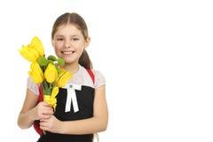 Mooi schoolmeisje Stock Foto's