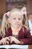 Mooi schoolmeisje. Het portret van huren. Stock Foto's