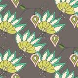Mooi seamles bloemenpatroon Royalty-vrije Stock Foto's