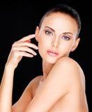 Mooi sensueel gezicht van de volwassen vrouw Royalty-vrije Stock Afbeeldingen