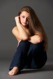 Mooi sensueel meisje Royalty-vrije Stock Afbeeldingen