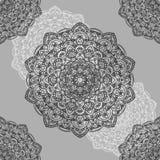 Mooi sier naadloos patroon met mandala Royalty-vrije Stock Foto's