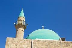 Mooi Sinan Basha Mosque met groene koepel in de oude stad o royalty-vrije stock foto