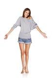 Mooi slank meisje Royalty-vrije Stock Foto