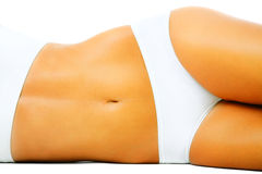 Mooi slank vrouwelijk lichaam royalty-vrije stock afbeeldingen